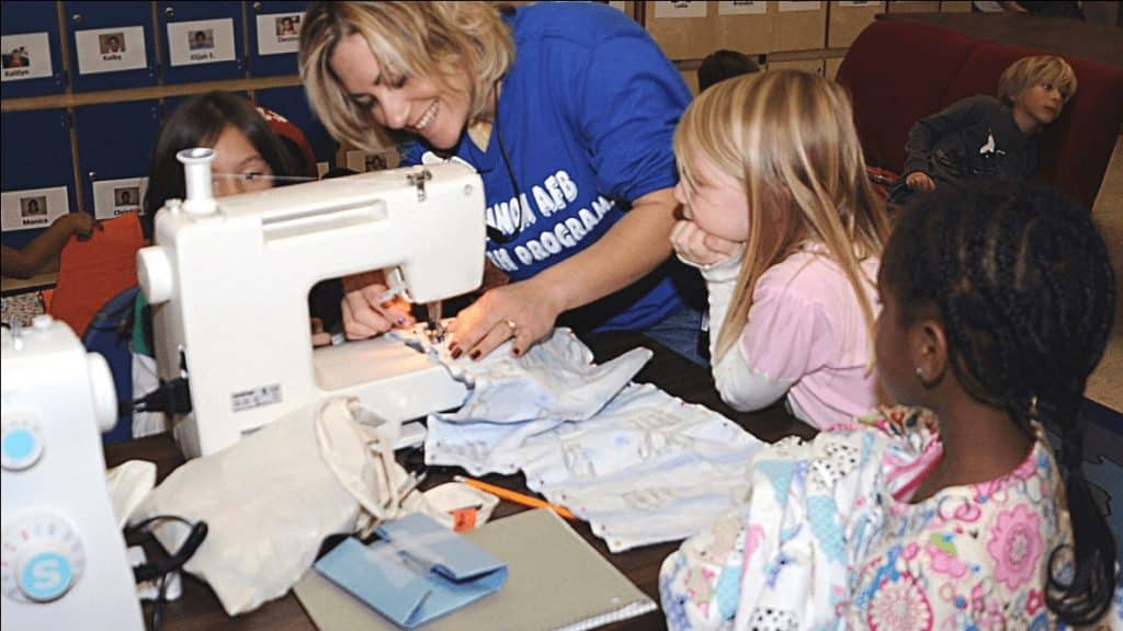Kids Learn Sewing