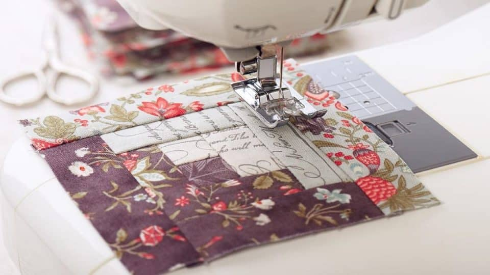 Quilting on a sewing machine